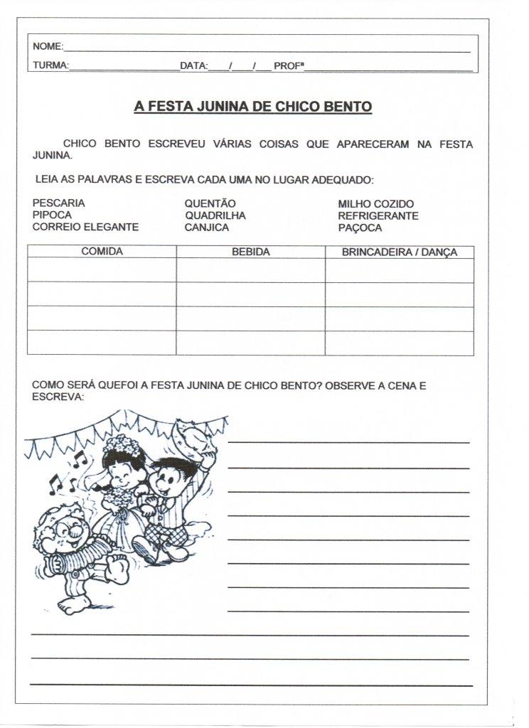 Festa Junina Listas E Producao De Texto Alfabetizacao Blog