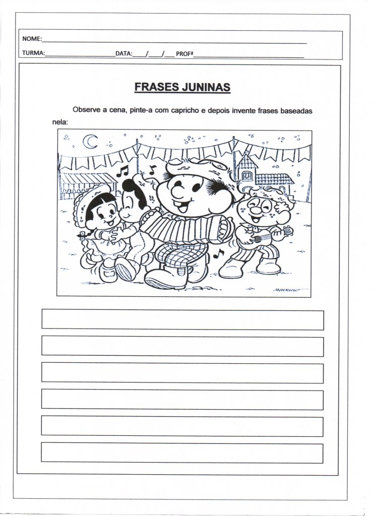Festa Junina Produção De Frases Juninas Alfabetização Blog